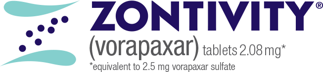 Zontivity® (vorapaxar) tablets 2.08mg* *equivalent to 2.5mg vorapaxar sulfate